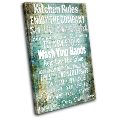 Kitchen House Rules Typography - 13-2363(00B)-SG32-PO